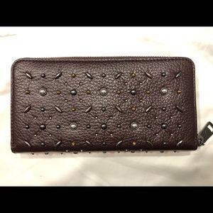 Coach Bags - COACH Accordion Prairie Rivets zip around wallet
